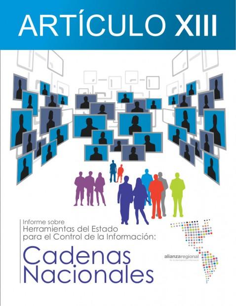 Tapa Articulo XIII Cadenas Nacionales